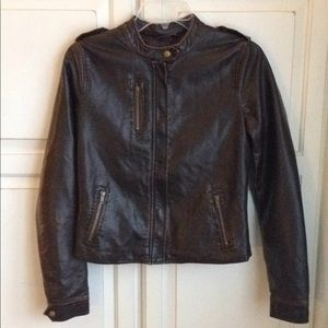 Delia's brown faux leather jacket